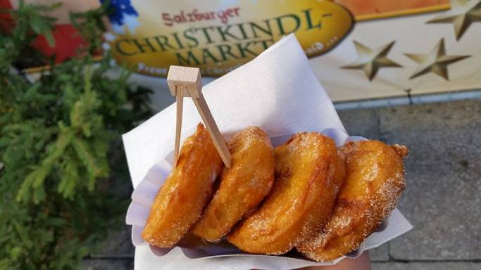 Deep-fried apple rings sprinkled with sugar and drowned in Baileys. Yum!