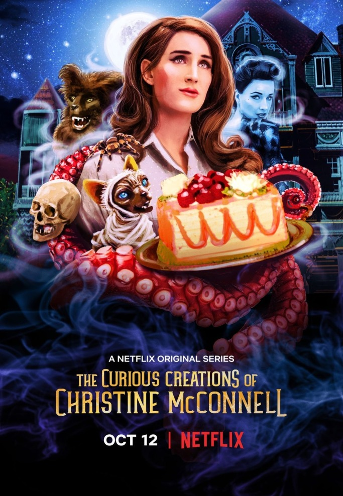 curious creations of christine mcconnell, netflix, baking, horror, halloween,