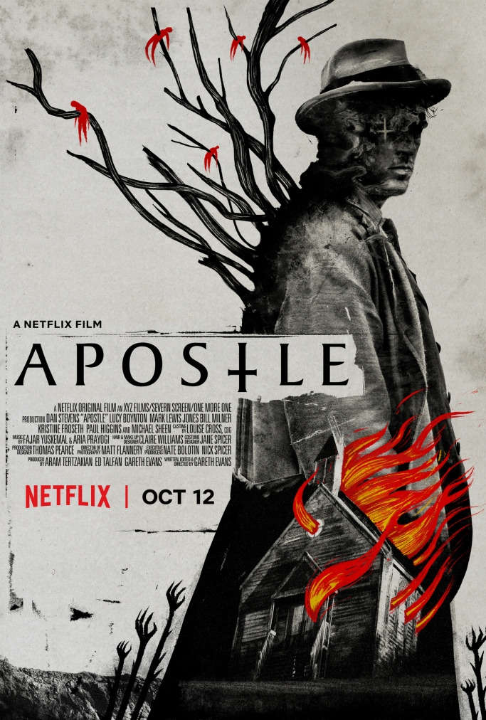 horror, horror movies, horror films, apostle, dan stevens, netflix, michael sheen, netflix horror, film, films, movies, halloween,