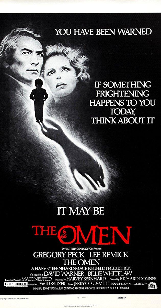 the omen, 1976, gregory peck, horror, horror films, horror movies, film, films, movies, halloween,